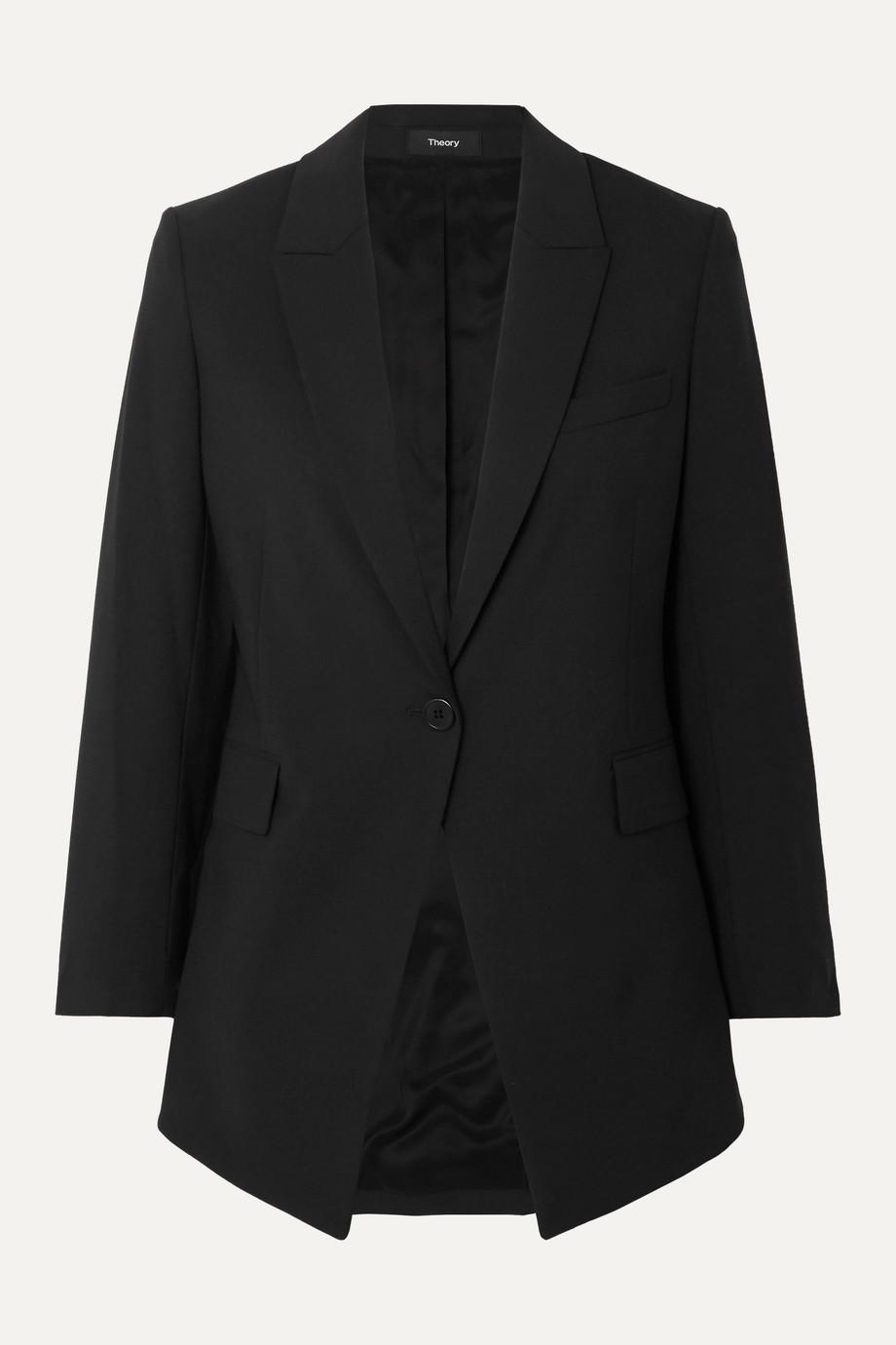 Theory Etiennette wool-blend crepe blazer