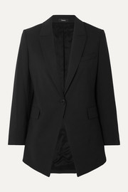Theory Etiennette wool-blend crepe blazer