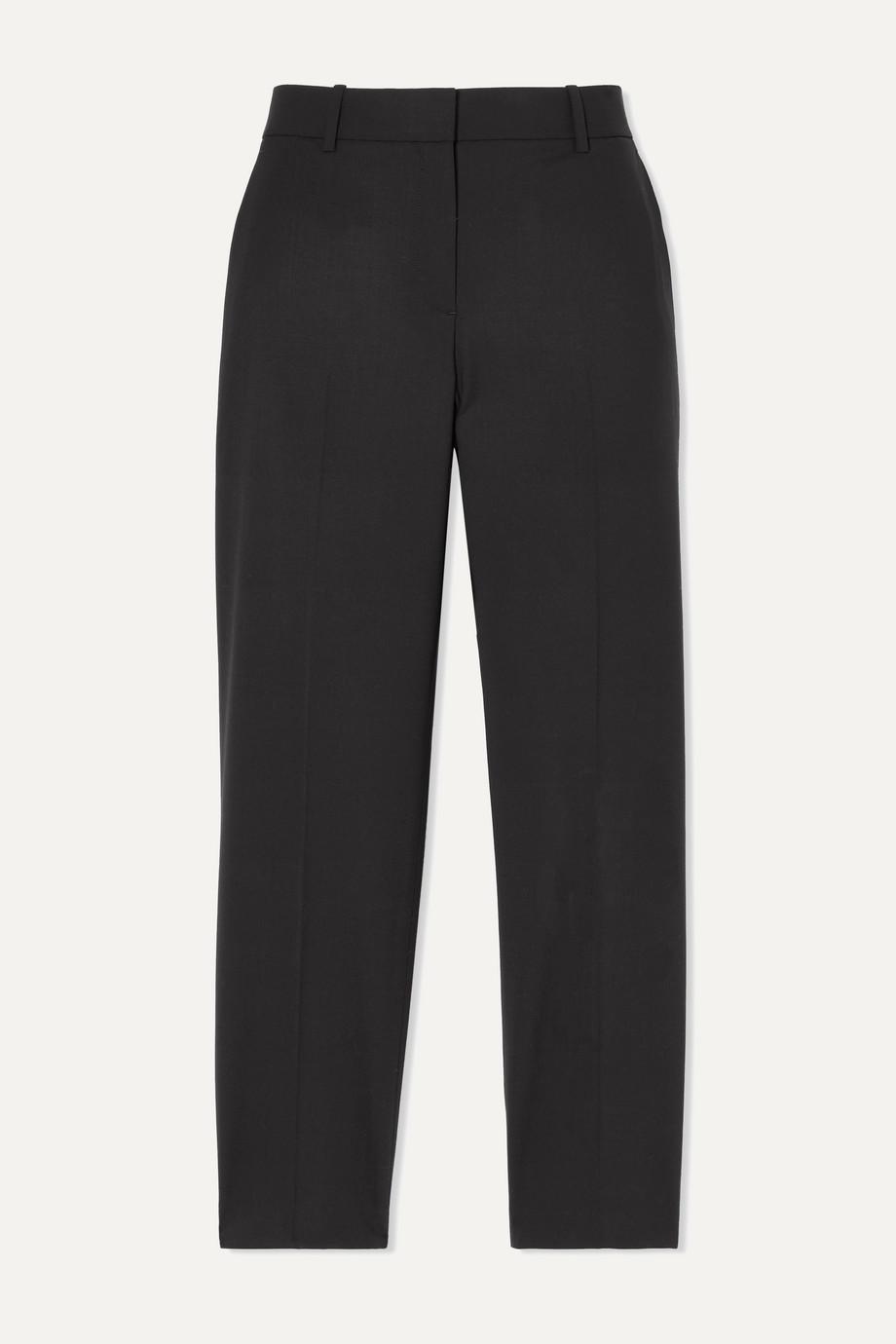 Theory Pantalon slim raccourci en laine stretch Treeca 2