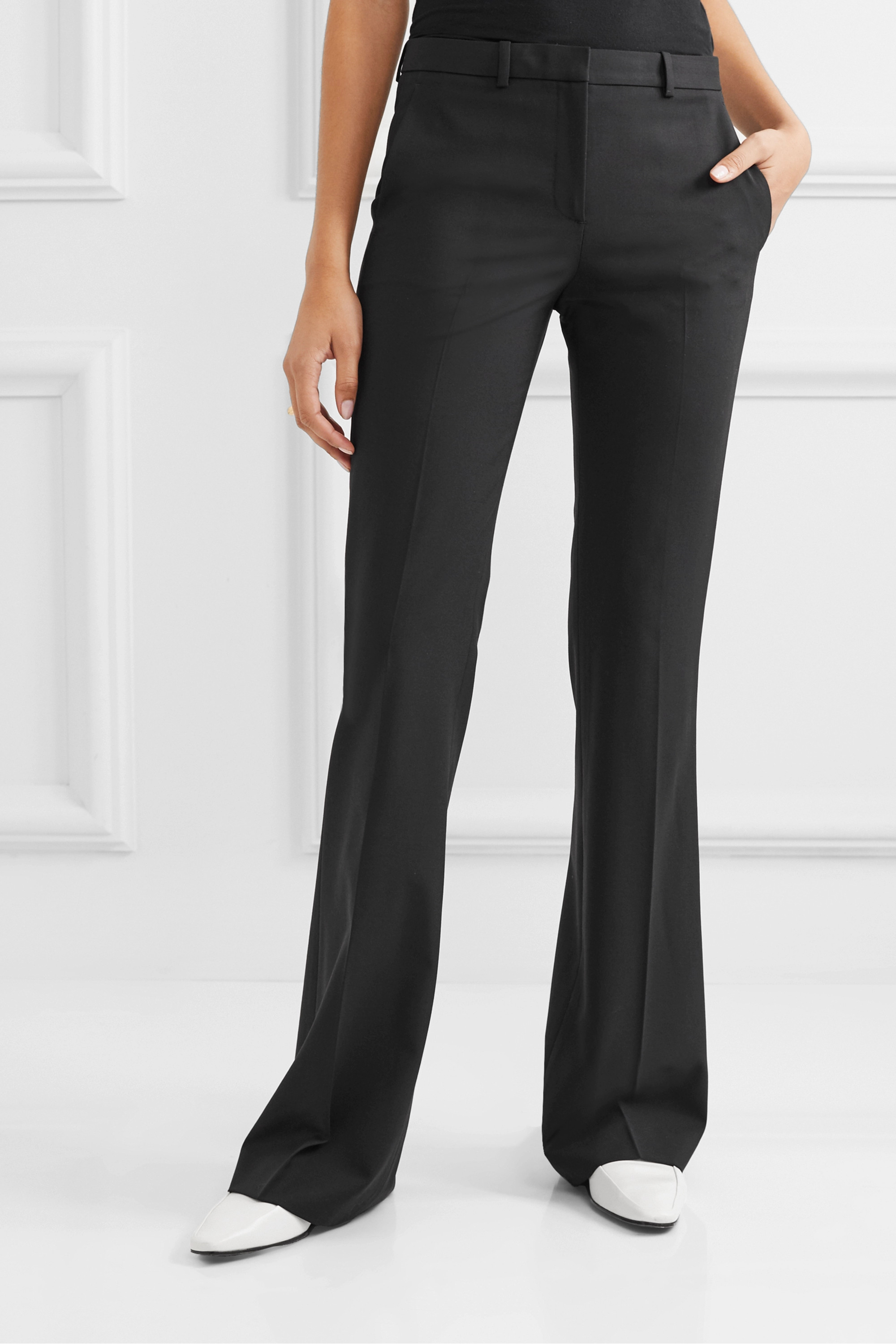 Theory Demitria 4 stretch-wool flared pants