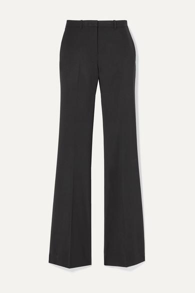 Theory - Demitria 4 Stretch-wool Flared Pants - Black