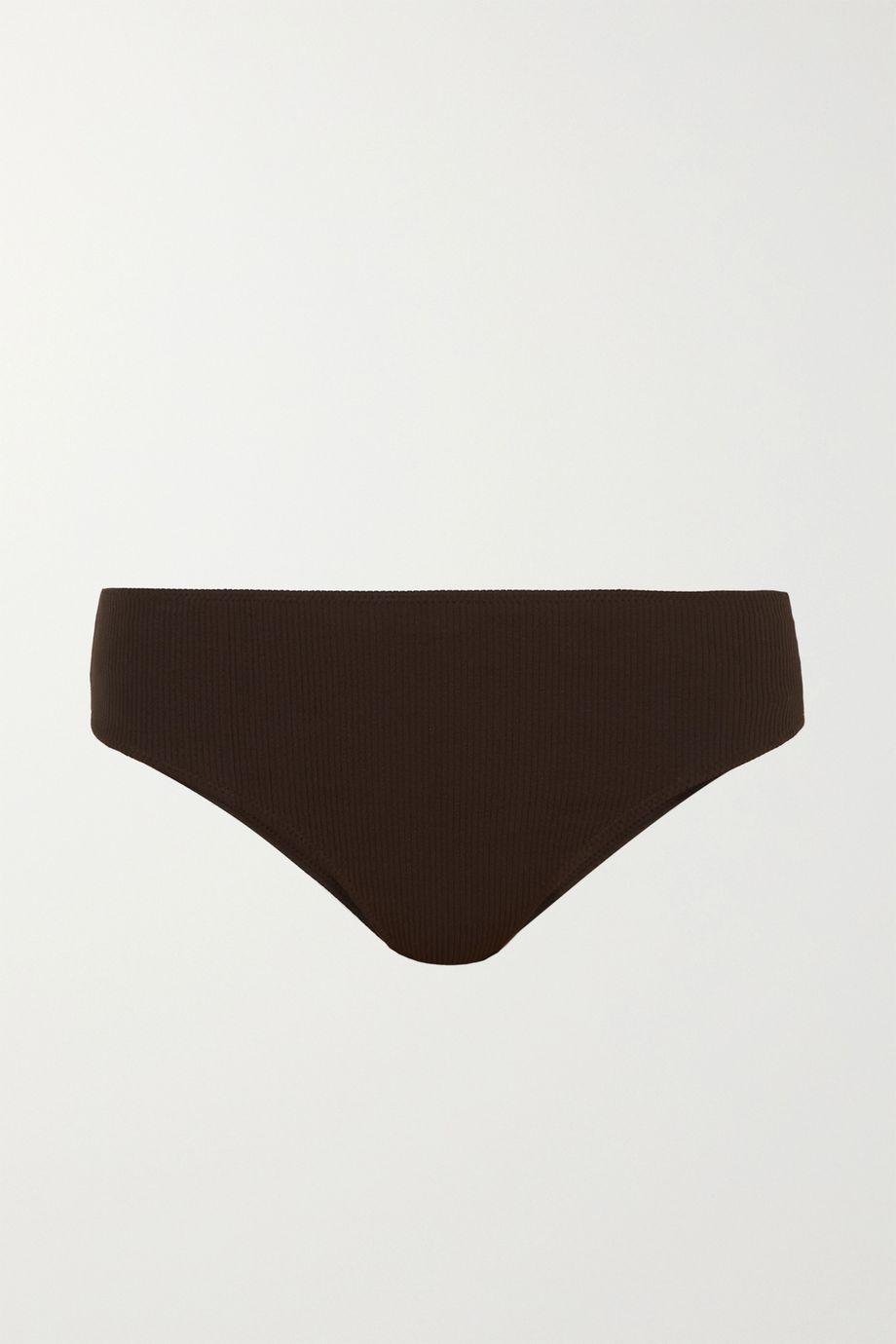 GANNI Ribbed bikini briefs