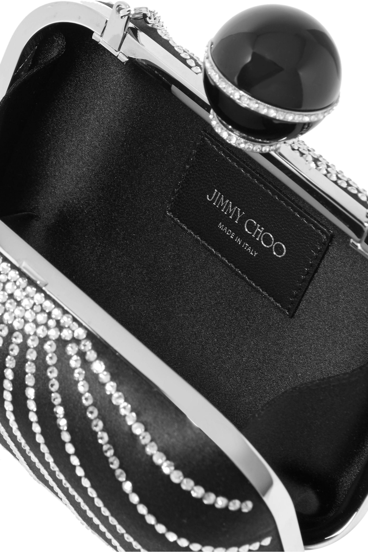 Jimmy Choo Cloud crystal-embellished satin clutch