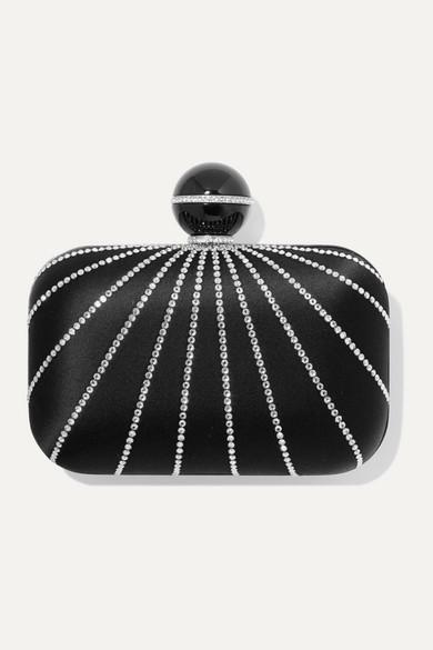 Jimmy Choo Clutch Cloud crystal-embellished satin clutch