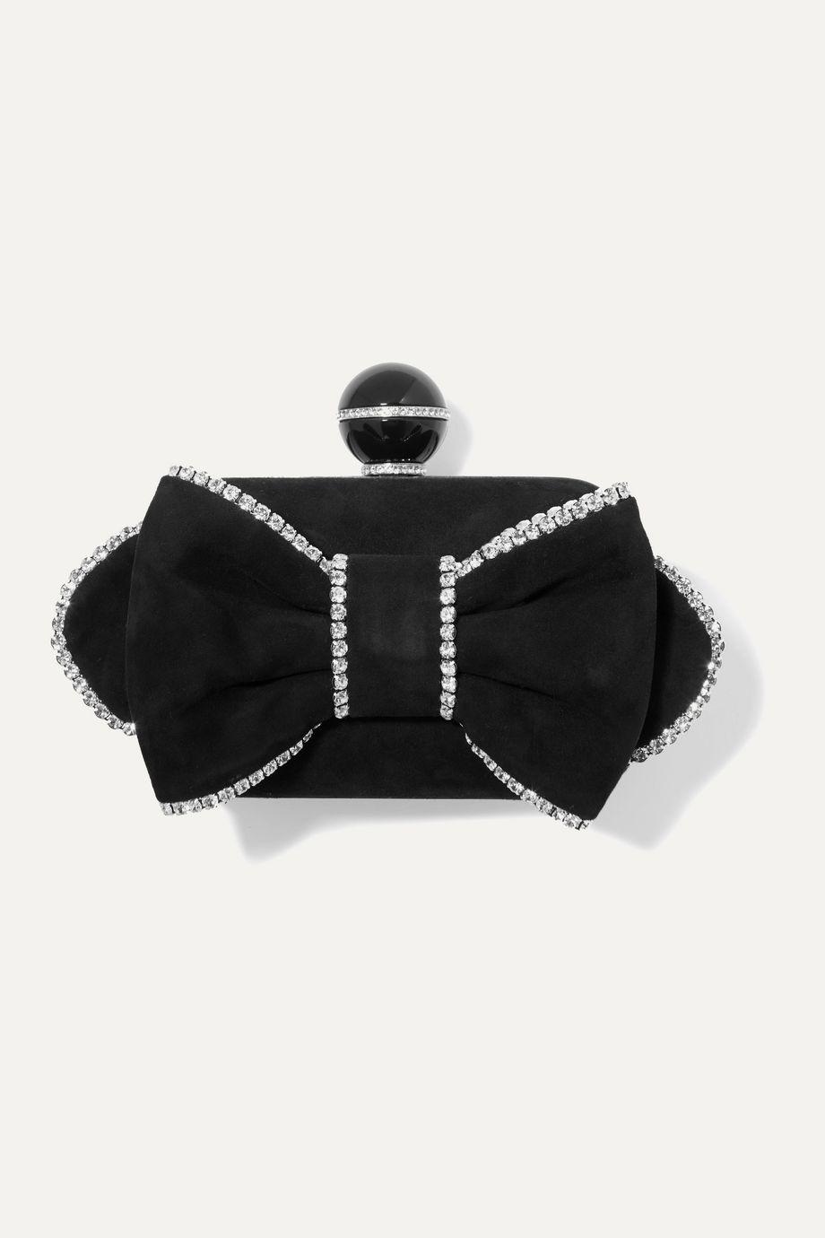Jimmy Choo Cloud crystal-embellished suede clutch