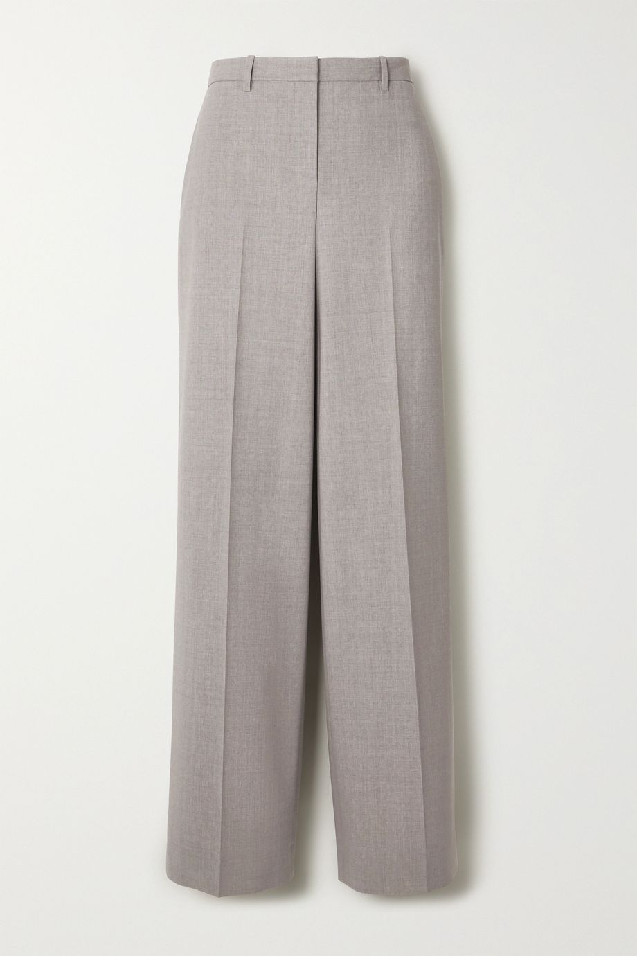 Theory Mélange stretch-wool straight-leg pants