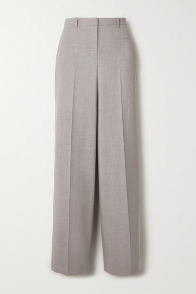 Theory Pants Mélange stretch-wool straight-leg pants