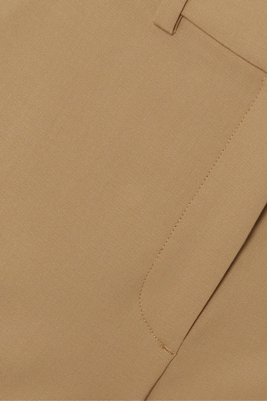 Theory Demitria grain de poudre wool-blend straight-leg pants