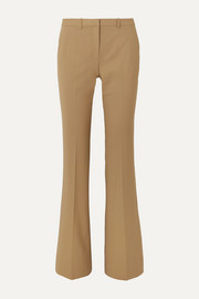 Demitria grain de poudre wool-blend straight-leg pants