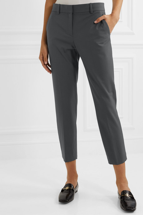 Treeca stretch-wool tapered pants