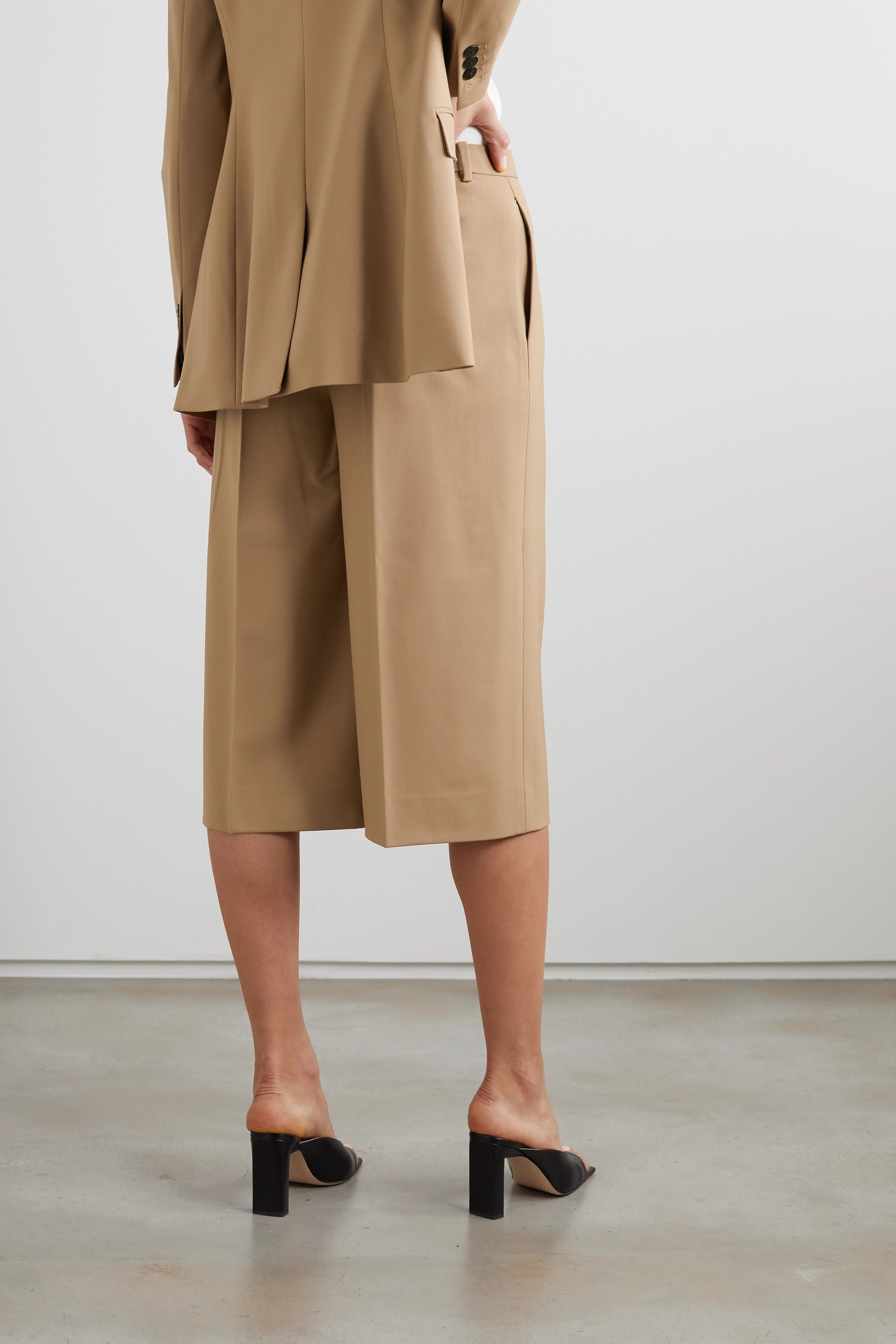 Theory Culottes aus Stretch-Wolle