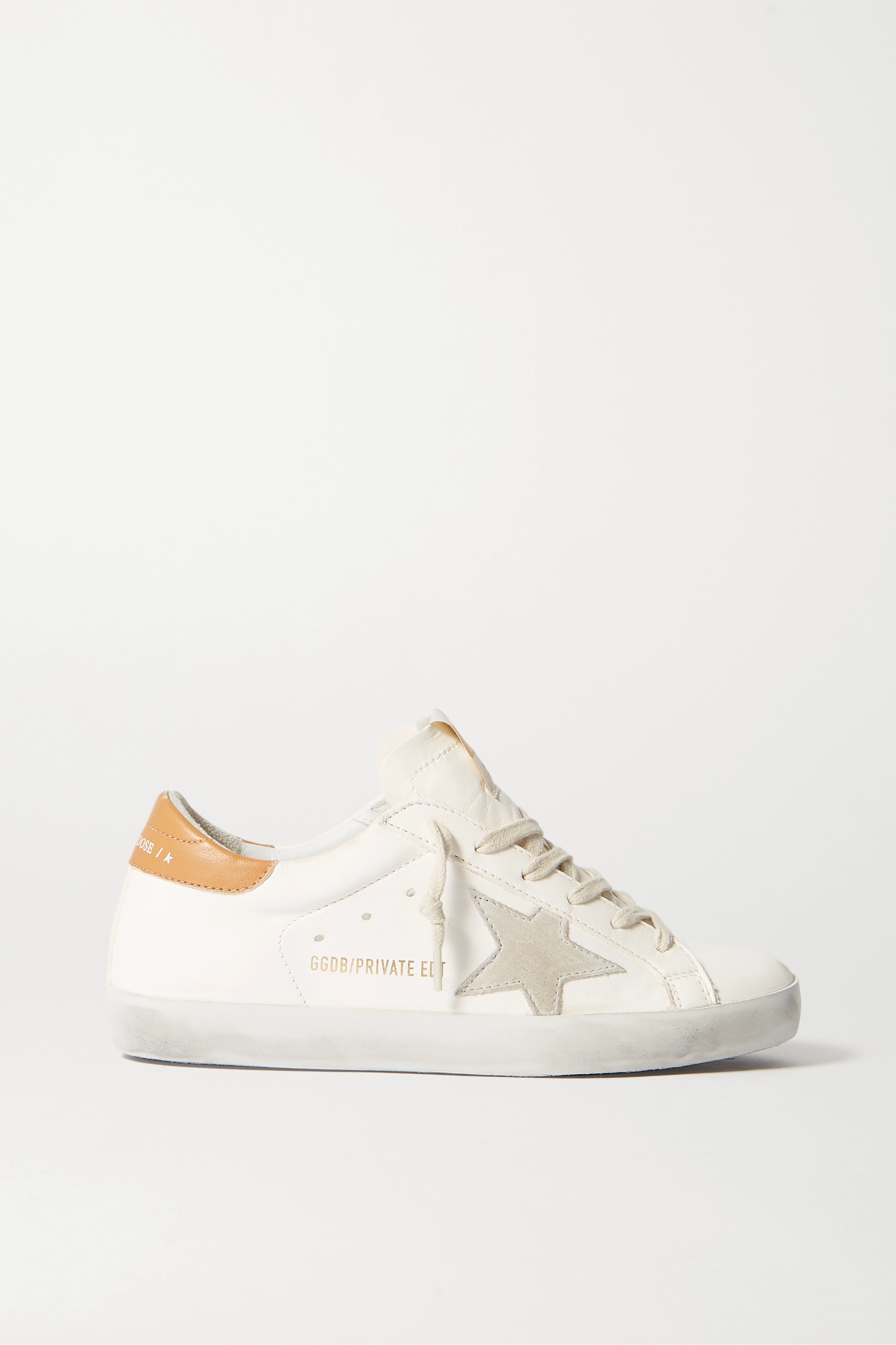 Off-white Superstar distressed leather