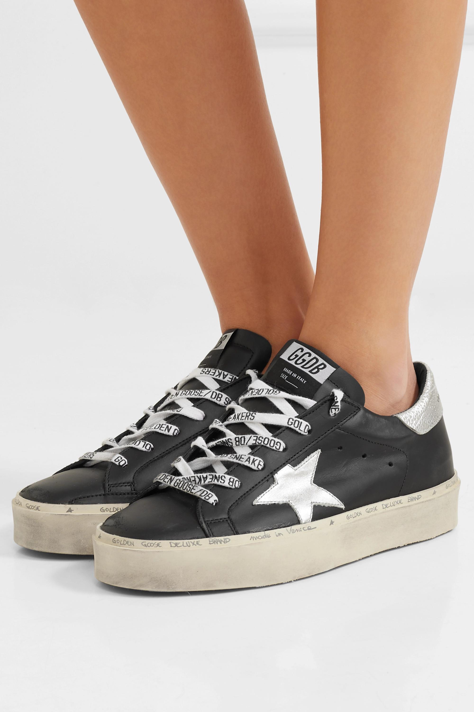 Black Hi Star distressed leather
