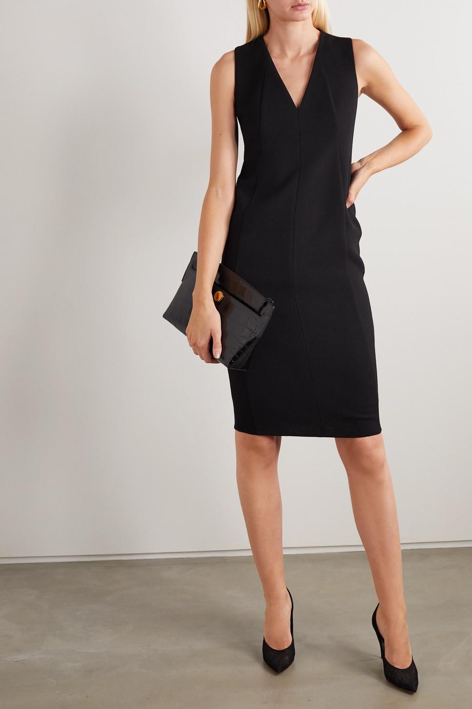 Akris Wool-blend crepe dress