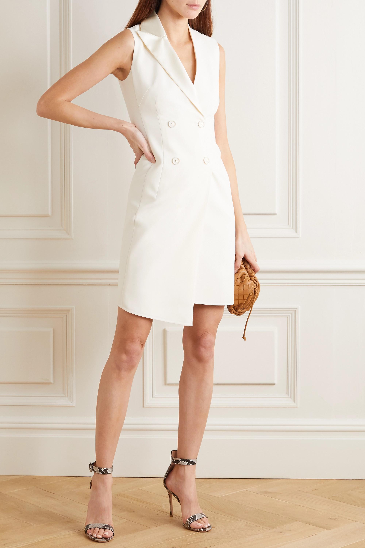 Akris Asymmetric double-breasted wool-blend dress