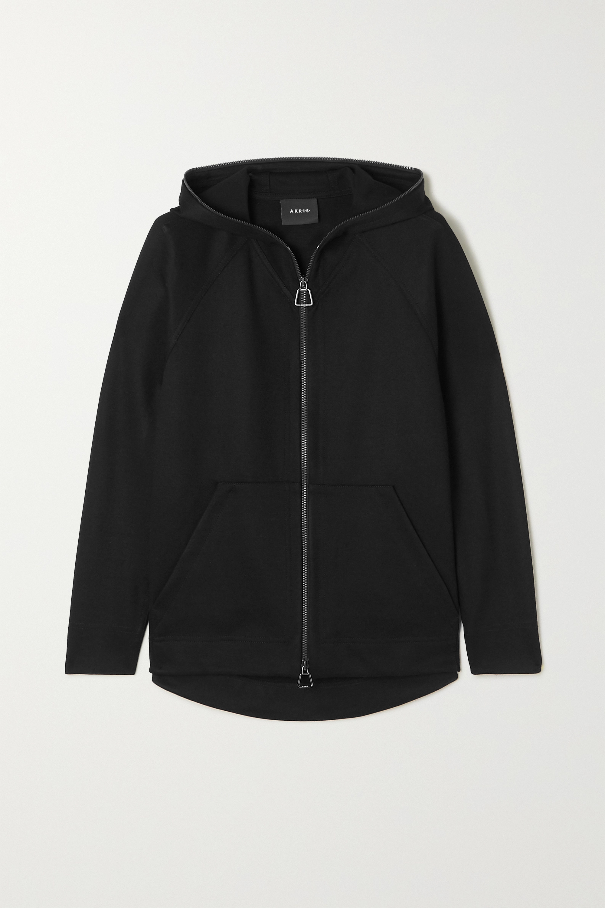 Akris Flava hooded stretch-jersey track jacket