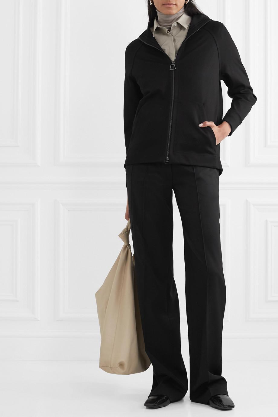 Akris Flava hooded stretch-jersey track jacket