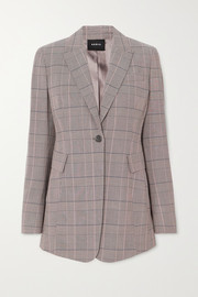 Gash checked wool blazer
