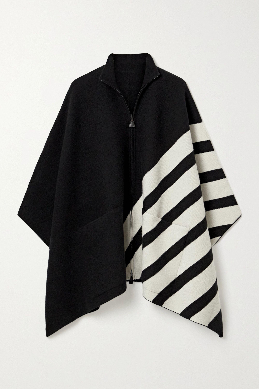 Akris Reversible striped cashmere cape