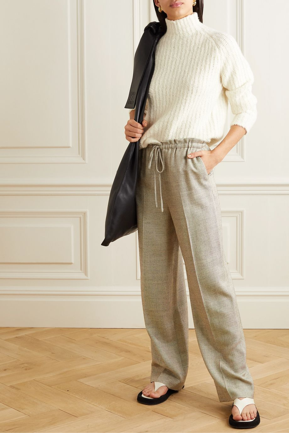 Akris Ribbed cashmere and mulberry silk-blend sweater