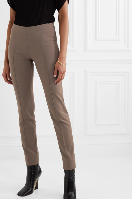 Melissa cotton-blend slim-leg pants