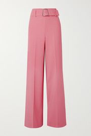 Floriane belted wool-blend wide-leg pants