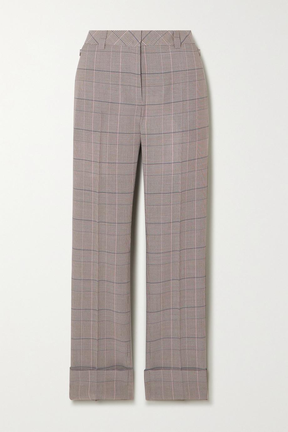 Akris Maxima checked wool straight-leg pants