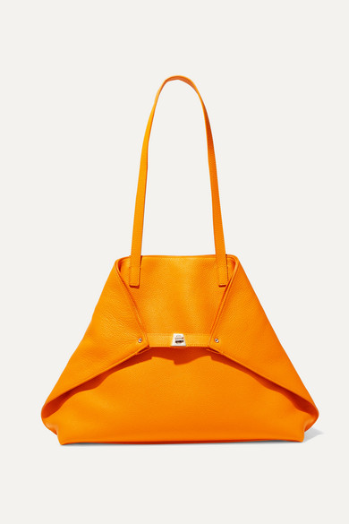Akris Shoulder Ai large textured-leather tote