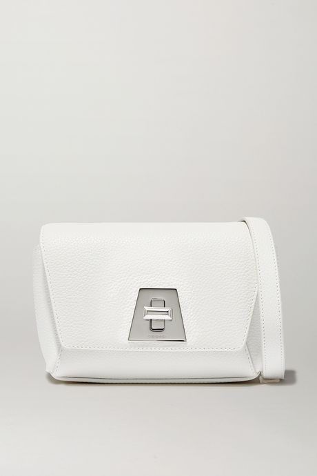 White Anouk textured-leather shoulder bag   Akris ZwtCp8