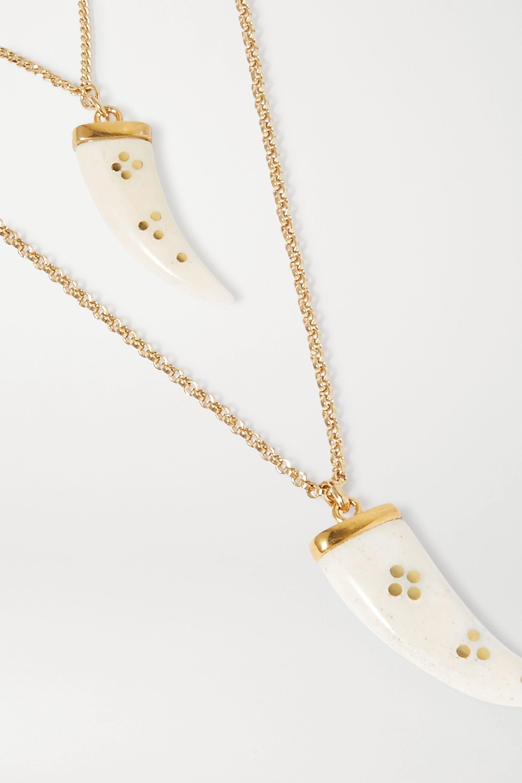 Isabel Marant Collier en métal doré à cornes Aimable