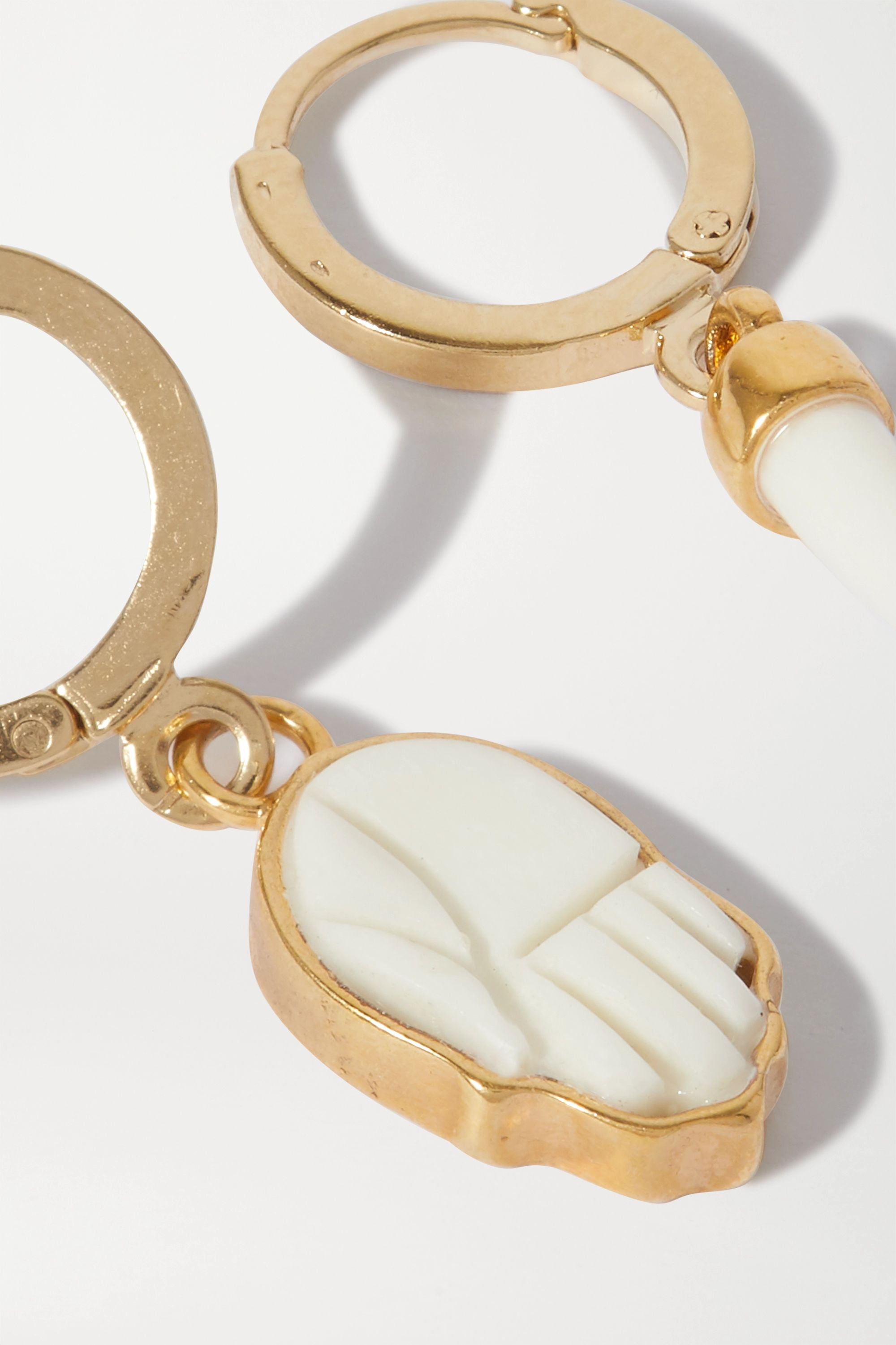Isabel Marant Gold-tone and bone earrings