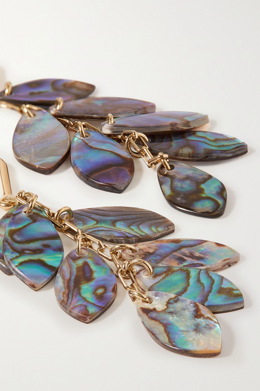 Isabel Marant Ali gold-tone and shell earrings