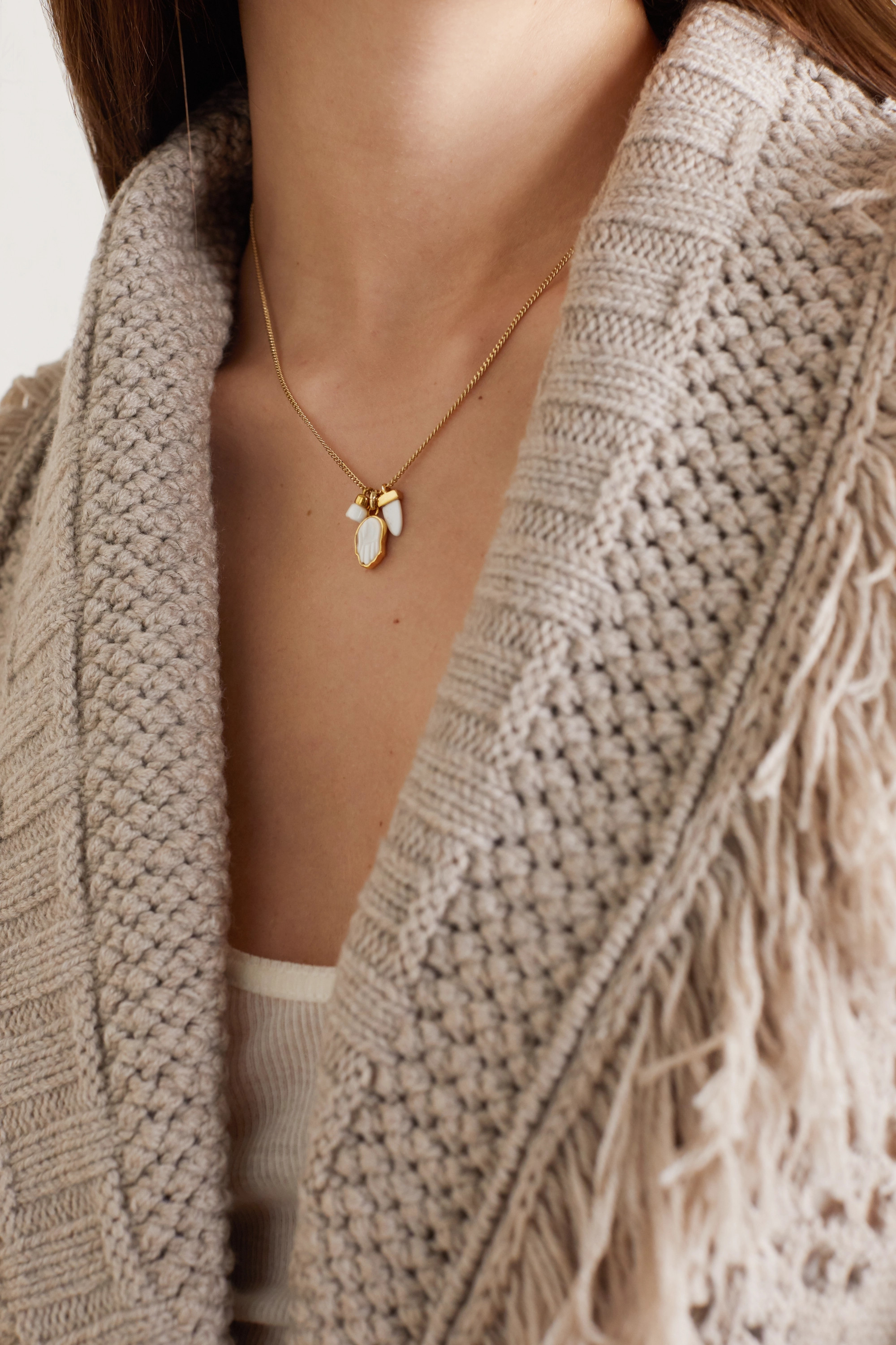 Isabel Marant Gold-tone horn necklace