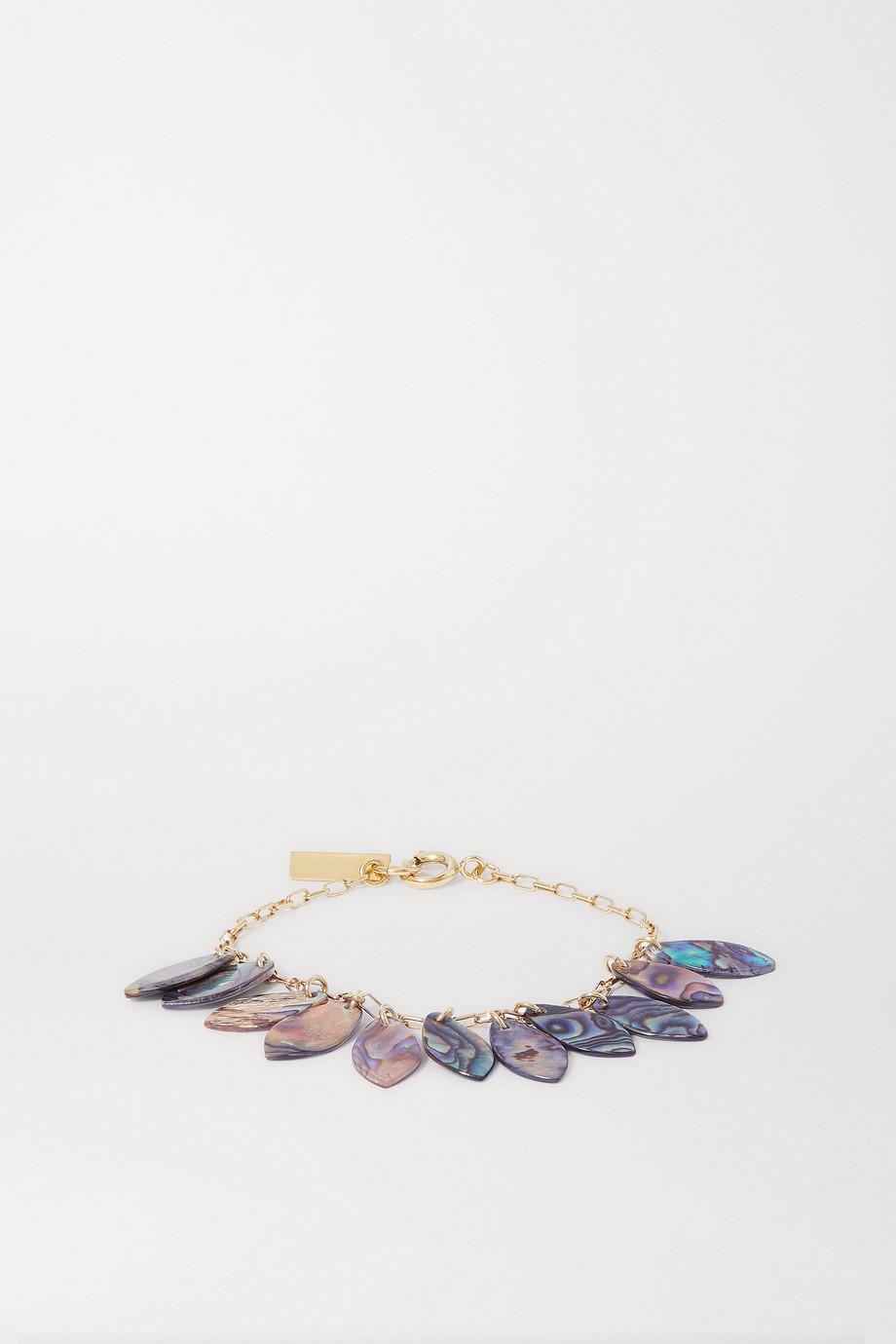 Isabel Marant Ali goldfarbenes Armband mit Muscheln