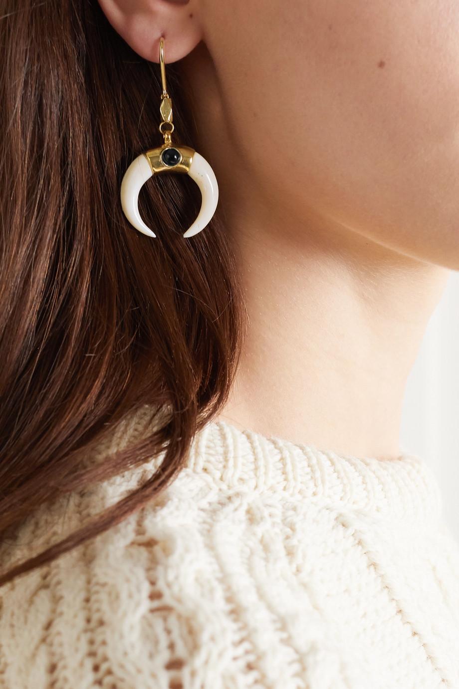 Isabel Marant Zanzibar gold-tone, bone and stone earrings