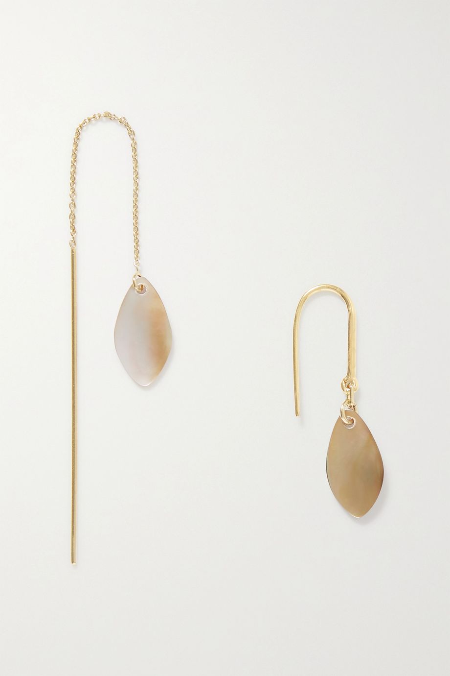 Isabel Marant Ali gold-tone and shell earrings
