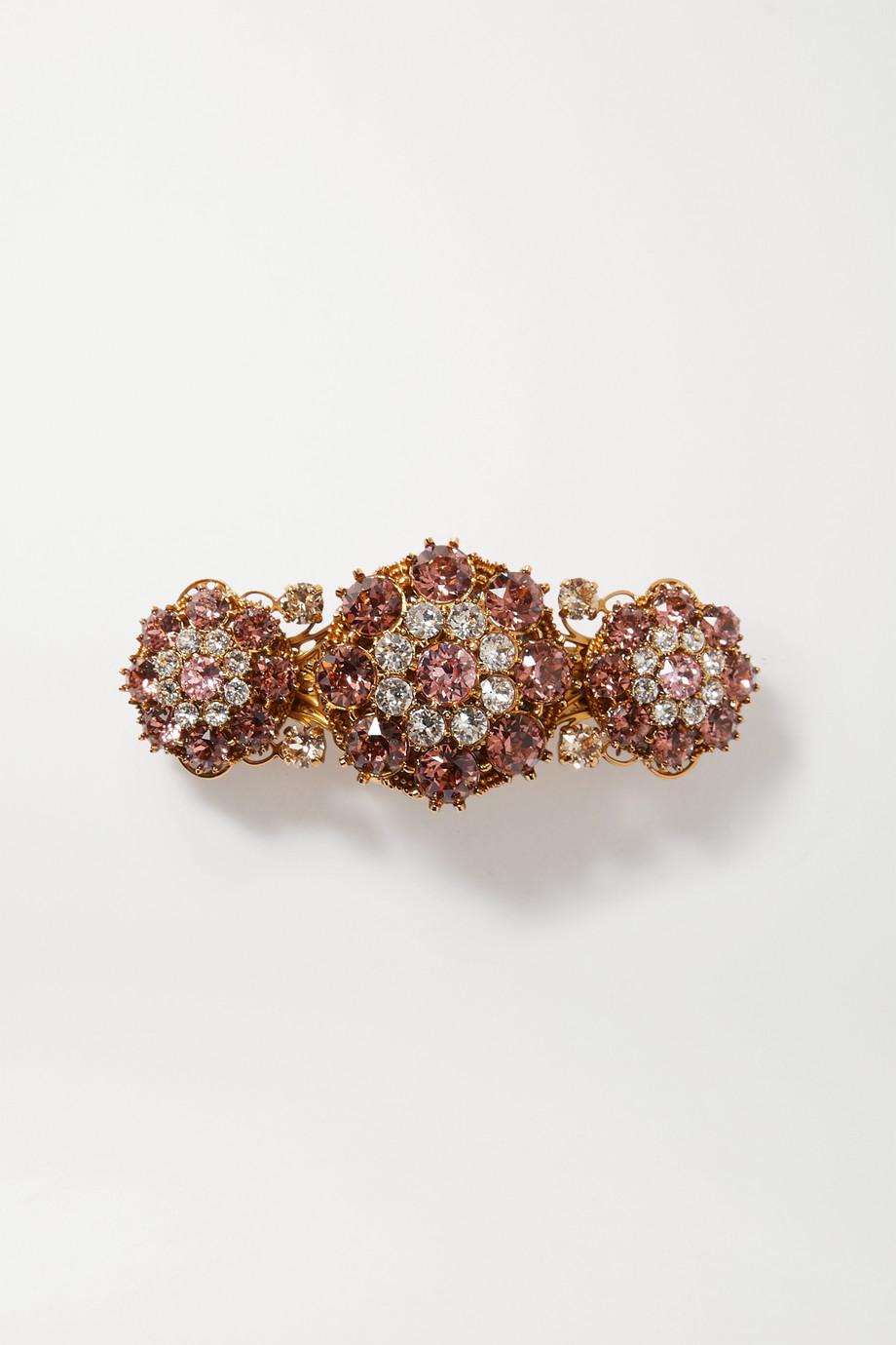 Dolce & Gabbana Gold-tone crystal hair clip