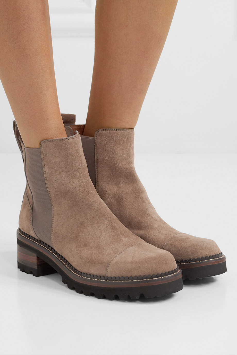 See By Chloé Suede Chelsea boots