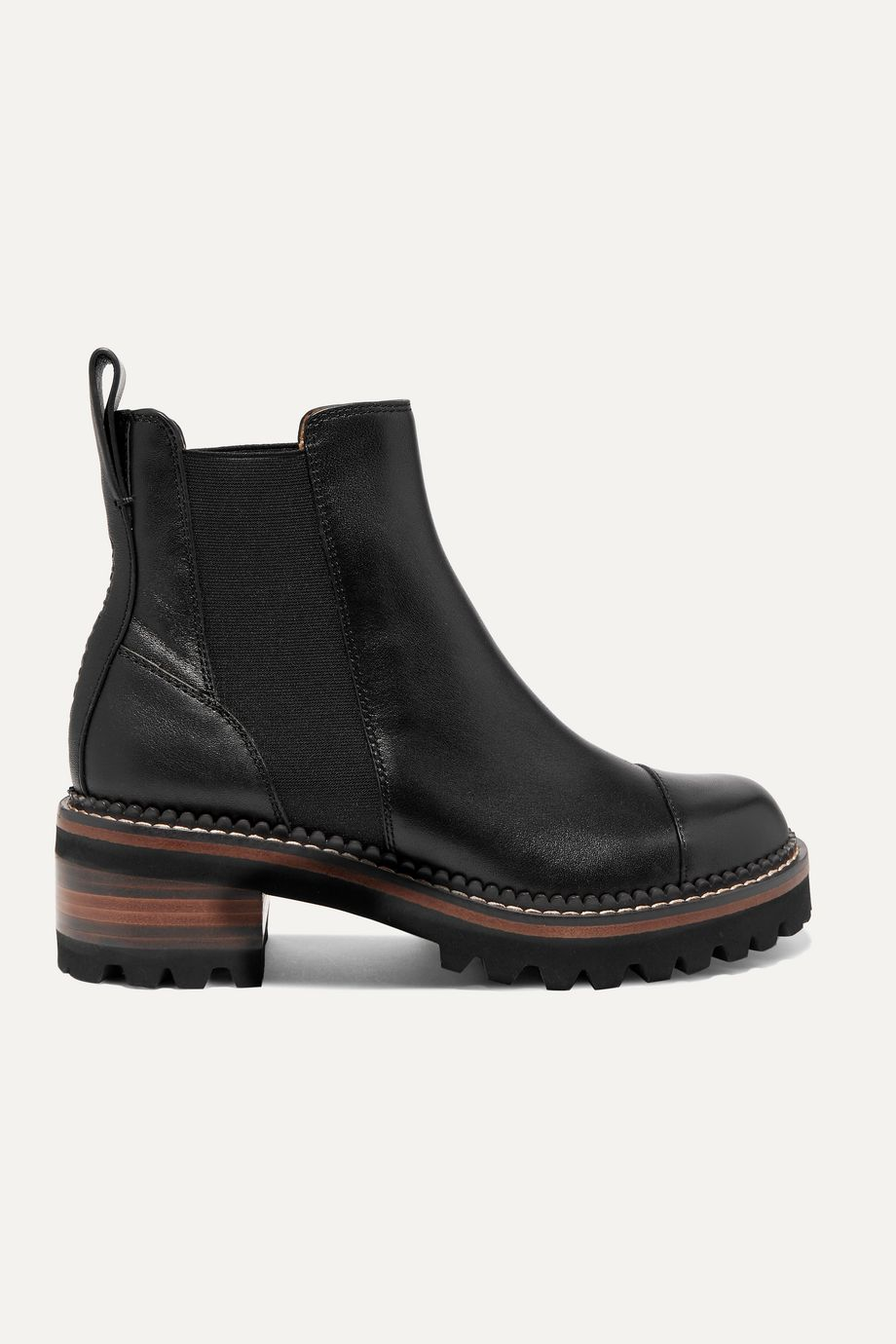 See By Chloé Leather Chelsea platform boots