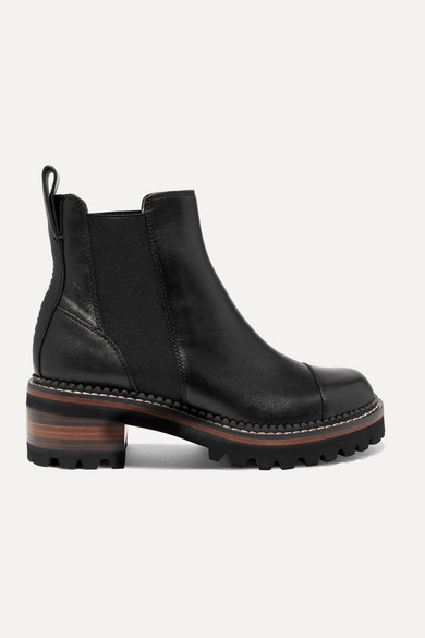 See By Chloé Boots LEATHER CHELSEA PLATFORM BOOTS
