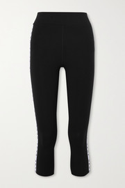 DKNY The Warm Up two-tone stretch-jersey leggings