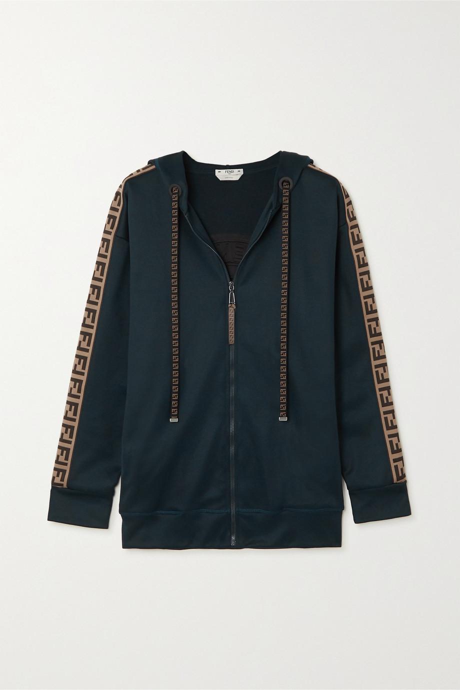 Fendi Veste de survêtement oversize en jersey à finitions en jacquard