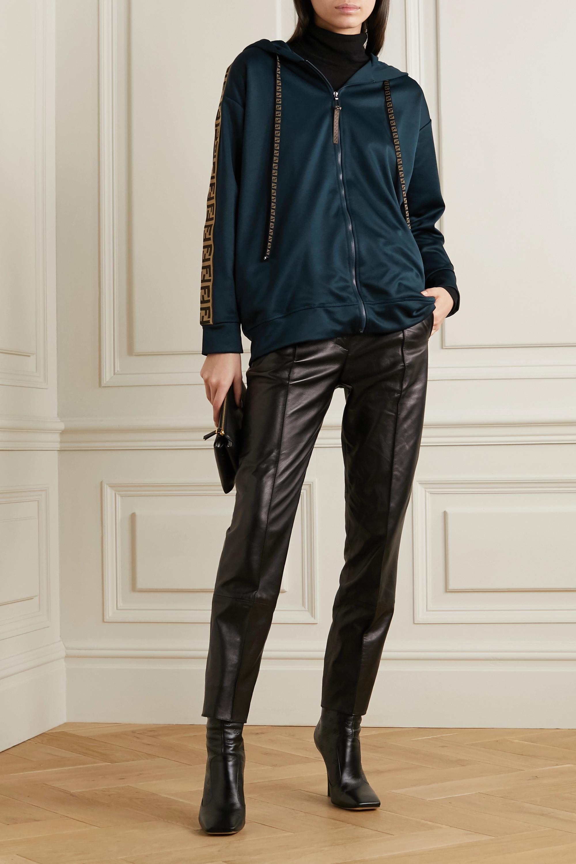 Fendi Oversized-Trainingsjacke aus Jersey mit Jacquard-Besatz
