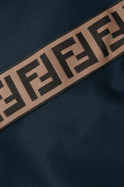 Fendi Roma striped jersey track pants