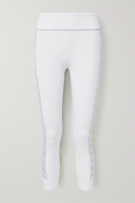 Fendi Rama printed stretch leggings