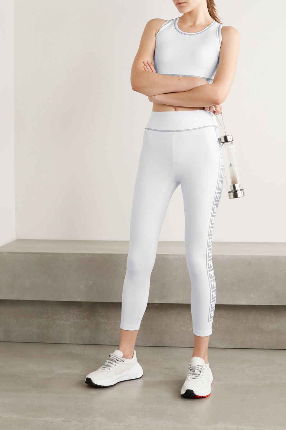 Fendi Rama printed stretch leggings