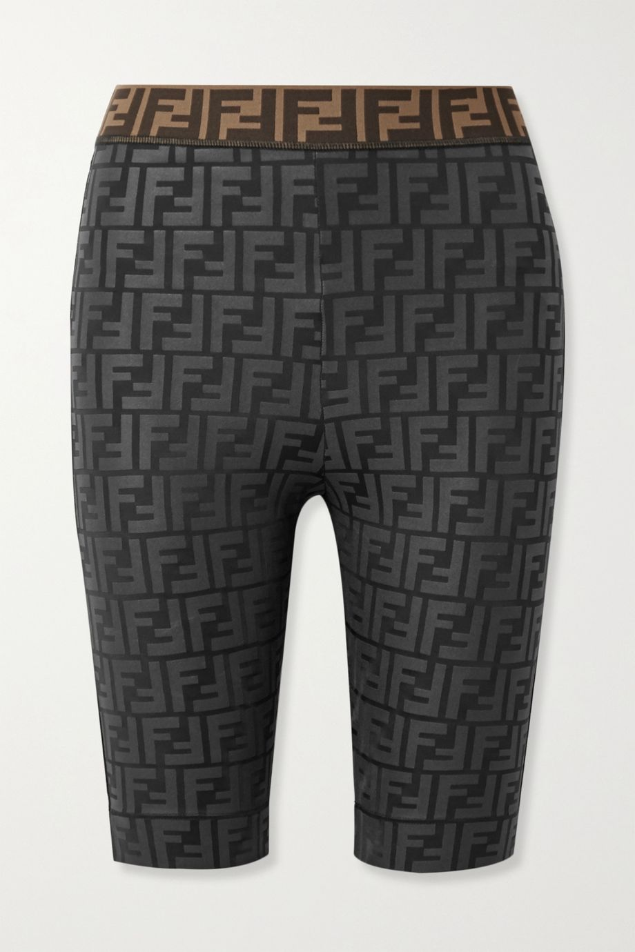 Fendi Jacquard-trimmed stretch-jersey shorts