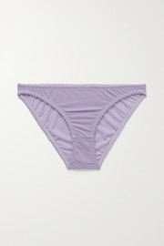 Lonely Gigi flocked stretch-tulle briefs