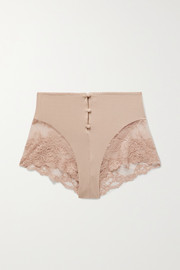 Lonely Hollie stretch-bamboo and lace briefs