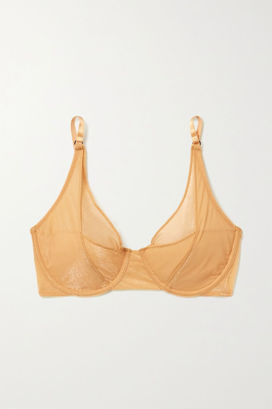Lonely Thea metallic stretch-tulle underwired soft-cup bra